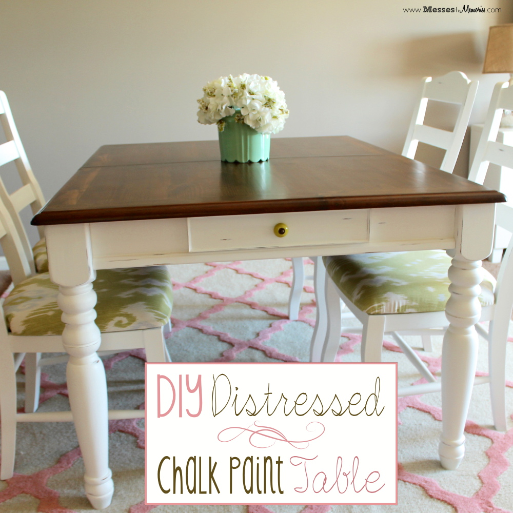 Diy distressed chalk paint table for Diy paint