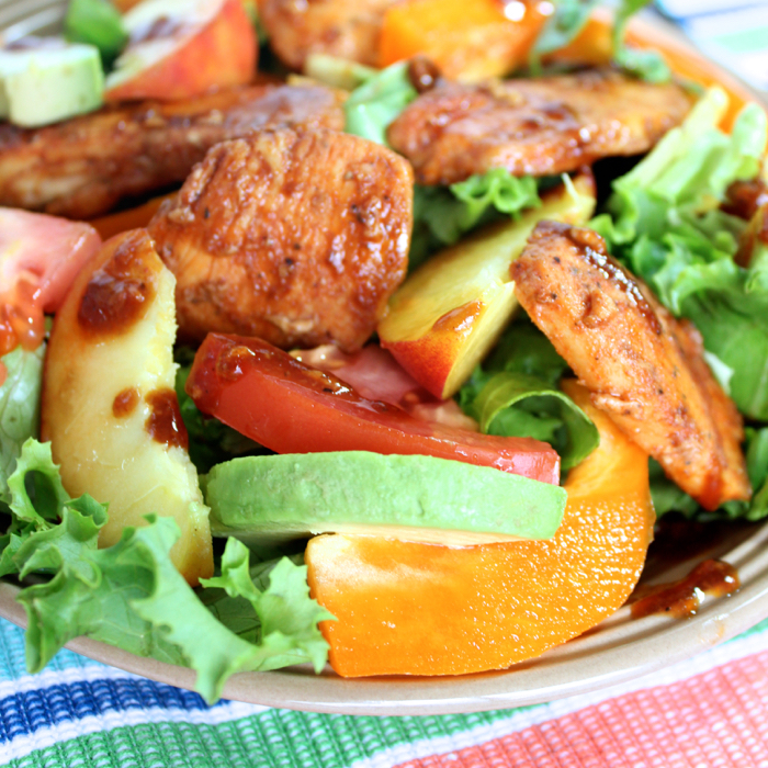Chicken Salad with Honey Balsamic Dressing from Messes to Memories